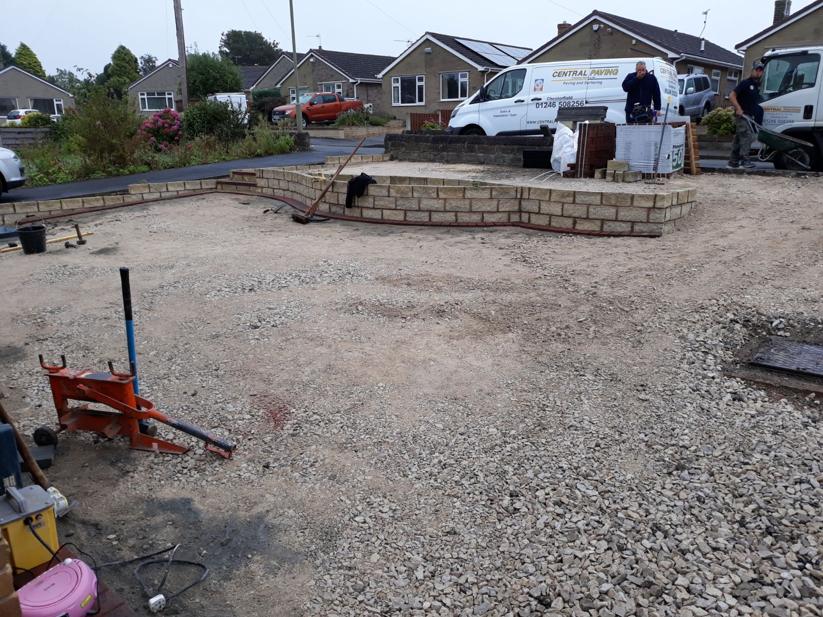 Tarmac Drive During Installation