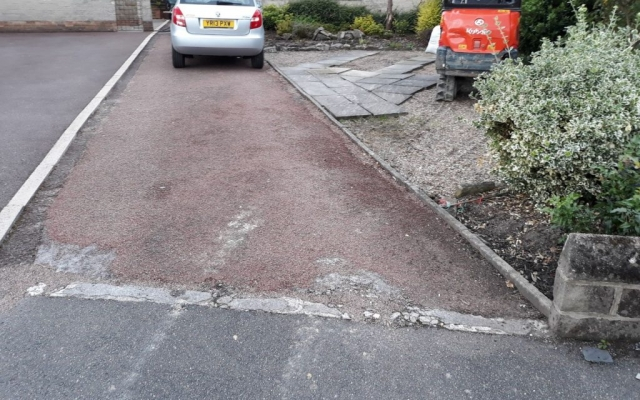 Before Block Paving